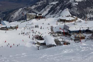 Skiareál na ledovci Kitzsteinhorn
