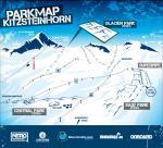 Mapa snowparku na Kitzsteinhorn