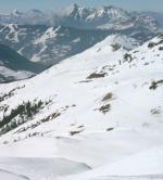 Horské panorama lyžařské oblasti Zell am See - Kaprun